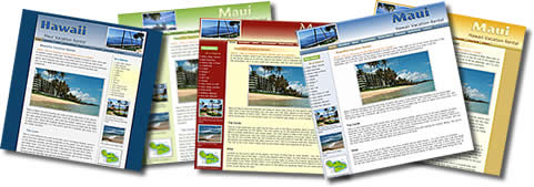 Vacation Web site design